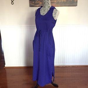 Athleta Hooded Drawstring Tank Maxi Dress
